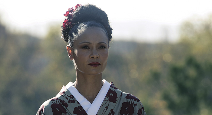 Westworld Episode 15 (season 2, episode 5), debut 5/20/18: Thandie Newton. photo: Jordin Althaus/HBO