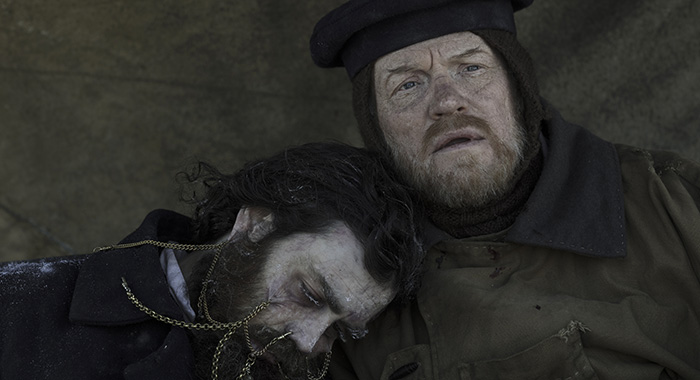 Jared Harris as Francis Crozier, Matthew McNulty as Lt. Edward Little - The Terror _ Season 1, Episode 10 - Photo Credit: Aidan Monaghan/AMC