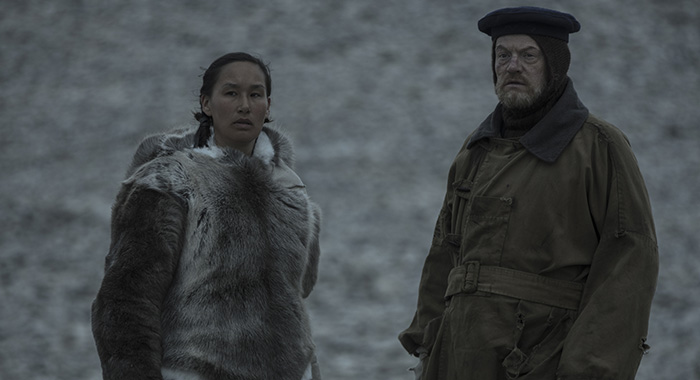 Nive Nielsen as Lady Silence/Silna, Jared Harris as Francis Crozier - The Terror _ Season 1, Episode 10 - Photo Credit: Aidan Monaghan/AMC