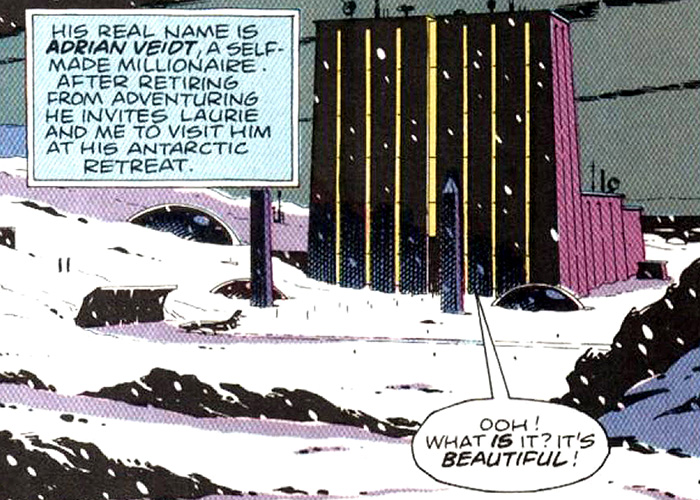 WATCHMEN, Karnak in the Antarctic as drawn by co-creator Dave Gibbons, 2009. ©Warner Bros./courtesy Everett Collection