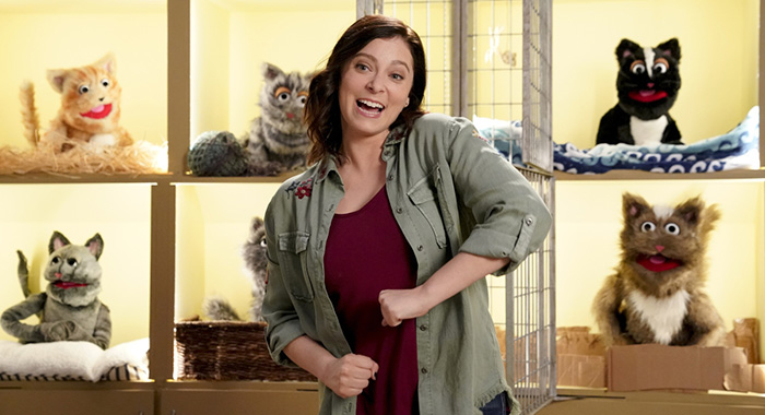 "Crazy Ex-Girlfriend -- ""Trent?!"" -- Image Number: CEG312b_0527.jpg -- Pictured: Rachel Bloom as Rebecca -- Photo: Greg Gayne/The CW -- 2018 The CW Network, LLC. All Rights Reserved."