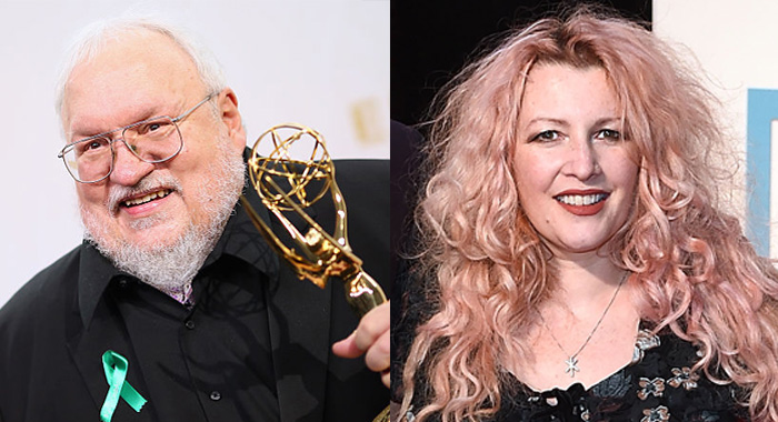 George R.R. Martin in 2015 in Los Angeles, Jane Goldman in 2017 in London (Mark Davis/Getty Images; Eamonn M. McCormack/Getty Images for Paramount Pictures)
