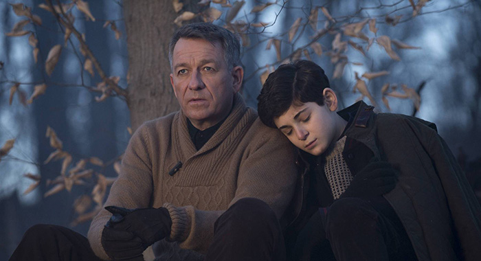 "GOTHAM: Bruce Wayne (David Mazouz, R) is comforted by Alfred (Sean Pertwee, L) after a treacherous hike in the ""The Scarecrow"" episode of GOTHAM airing Monday, Feb. 9 (8:00-9:00 PM ET/PT) on FOX. ©2015 Fox Broadcasting Co. Cr: Jessica Miglio/FOX"