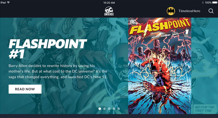 DC UNIVERSE streaming service: Read