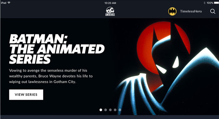DC UNIVERSE streaming service: Watch
