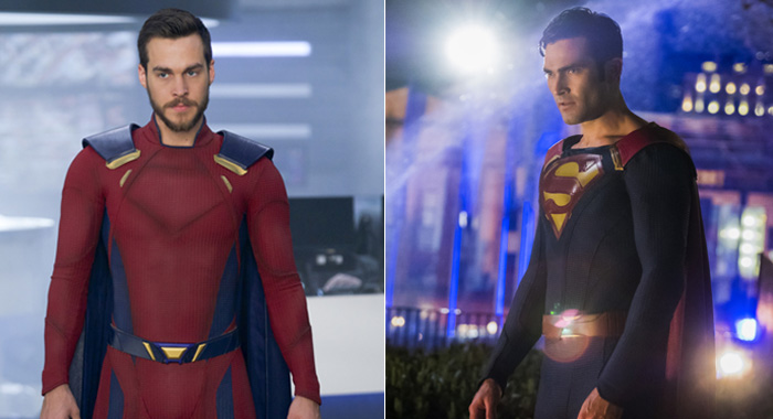 Supergirl - Chris Wood as Mon-El, Tyler Hoechlin as Clark/Superman (Shane Harvey/Katie Yu/The CW)