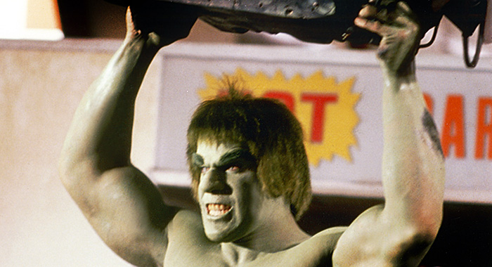THE INCREDIBLE HULK, Lou Ferrigno, 1978-82. ©Universal Television/courtesy Everett Collection