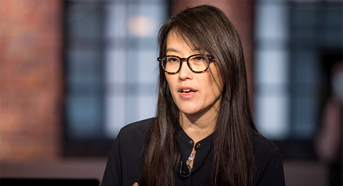 Ellen Pao, co-founder and chief executive officer of Project Include, speaks during a Bloomberg Technology television interview in San Francisco, California, U.S., on Monday, Aug. 5, 2019. Pao discussed recent mass shootings and the impact and responsibility that social media has with its users. Photographer: David Paul Morris/Bloomberg via Getty Images