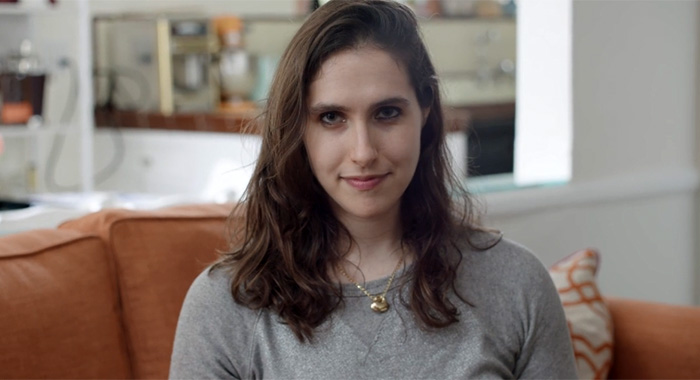 screencap of Megan Amram at http://anemmyformegan.com/