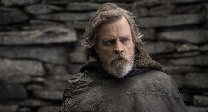 Mark Hamill as Luke Skywalker in Star Wars: The Last Jedi (Walt Disney Pictures)