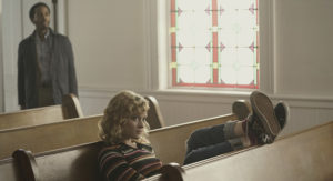 """Castle Rock -- """"Severance"""" -- Episode 101 -- Henry Deaver, a death-row attorney, confronts his dark past when an anonymous call lures him back to his hometown of Castle Rock, Maine. Henry Deaver (Andre Holland) and Jackie (Jane Levy), shown. (Photo by: Patrick Harbron/Hulu)"""