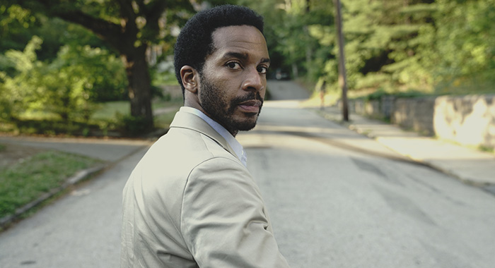 "Castle Rock -- ""Severance"" -- Episode 101 -- Henry Deaver, a death-row attorney, confronts his dark past when an anonymous call lures him back to his hometown of Castle Rock, Maine. Henry Deaver (Andre Holland), shown. (Photo by: Patrick Harbron/Hulu)"