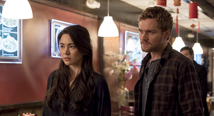 Marvel's Iron Fist SEASON Season 2 EPISODE 1 PHOTO CREDIT Linda Kallerus/Netflix PICTURED Jessica Henwick, Finn Jones