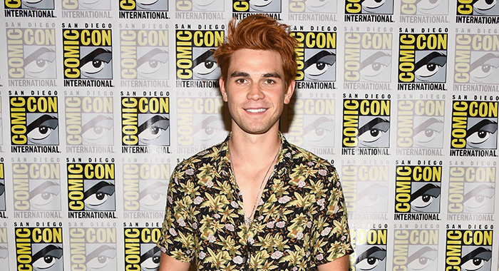 SAN DIEGO, CA - JULY 21: KJ Apa attends the 'Riverdale' Press Line during Comic-Con International 2018 at Hilton Bayfront on July 21, 2018 in San Diego, California. (Photo by Araya Diaz/Getty Images)