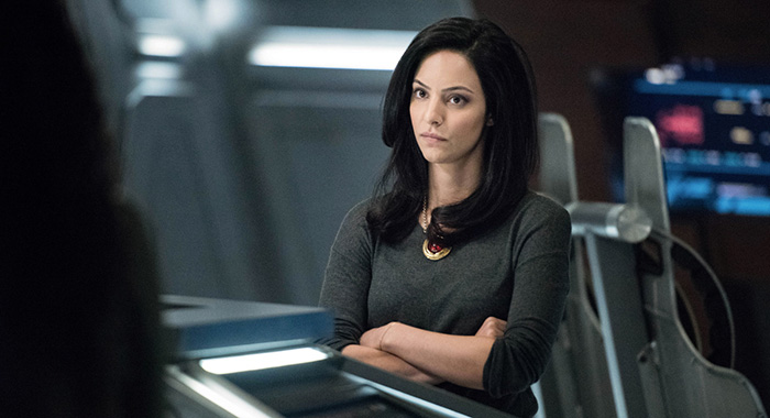 "DC's Legends of Tomorrow -- ""Guest Starring John Noble"" Pictured: Tala Ashe as Zari -- Photo: Dean Buscher/The CW"
