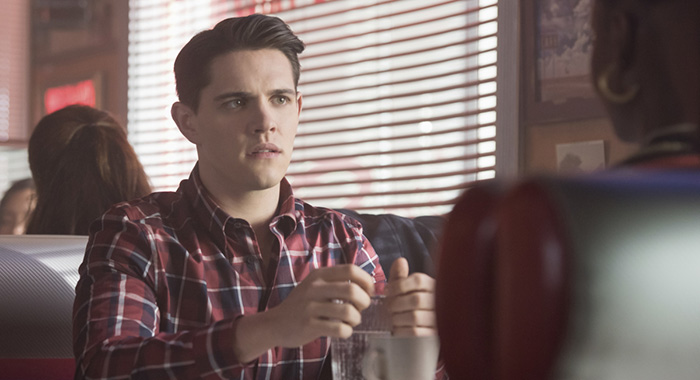 "Riverdale -- ""Chapter Twenty-Seven: The Hills Have Eyes"" -- Image Number: RVD214a_0028.jpg -- Pictured: Casey Cott as Kevin -- Photo: Dean Buscher/The CW"