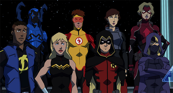 Young Justice season 3 team for now (DC Universe)
