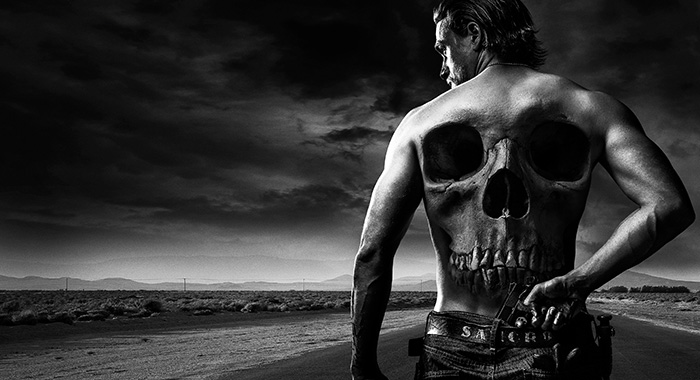 Charlie Hunnam as Jackson 'Jax' Teller in Sons of Anarchy keyart (FX)