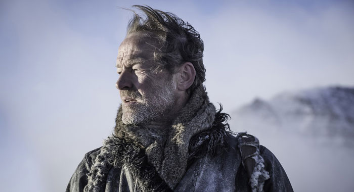 "Game of Thrones, Episode 66 (season 7, episode 6, ""Beyond the Wall""), debut 8/20/17: Iain Glen as Jorah Mormont. photo: Helen Sloan/courtesy of HBO"