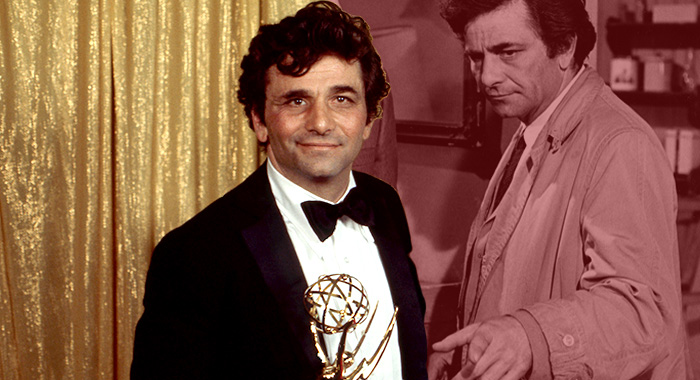 Peter Falk, star of Columbo (ABC via Getty Images; NBC/Courtesy Everett Collection)