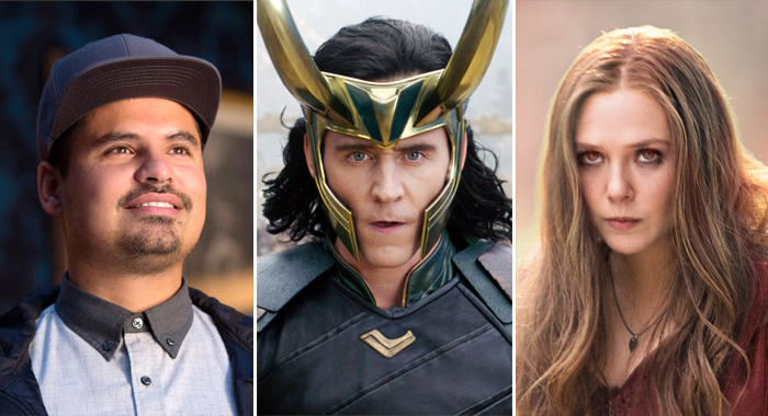 ANT-MAN, Michael Pena, 2015; THOR: RAGNAROK, Tom Hiddleston as Loki; CAPTAIN AMERICA: CIVIL WAR, Elizabeth Olsen (as Scarlet Witch/Wanda Maximoff), 2016 (Zade Rosenthal; © Marvel. All rights reserved. / © Walt Disney Studios Motion Pictures / courtesy Everett Collection)