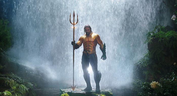 "JASON MOMOA as Aquaman in Warner Bros. Pictures' action adventure ""AQUAMAN,"" a Warner Bros. Pictures release. (Courtesy of Warner Bros. Pictures/ ™ & © DC Comics)"