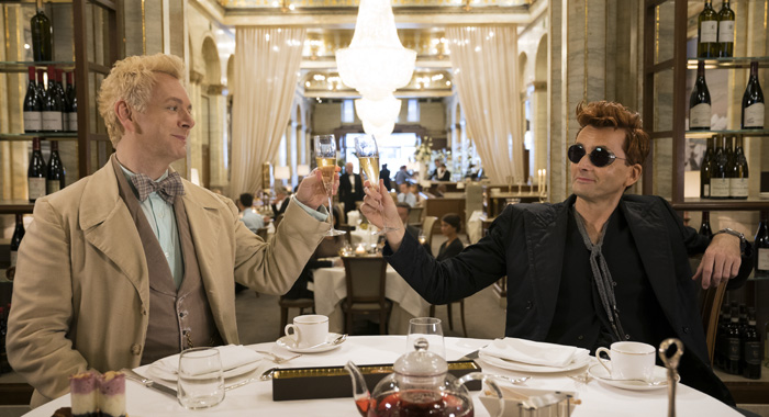 Michael Sheen and David Tennant in Good Omens (Amazon Studios)