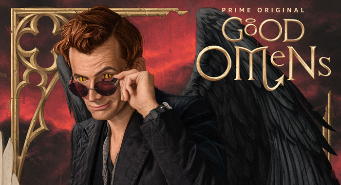 Michael Sheen in Good Omens Keyart (Amazon Studios)