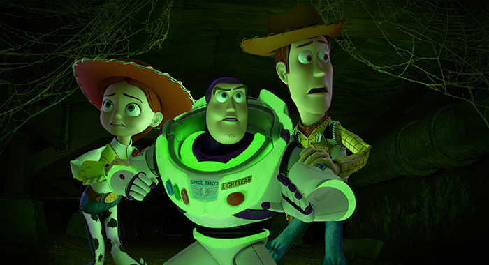 "TOY STORY OF TERROR - Disney•Pixar's first special for television, ""Toy Story OF TERROR!,"" a spooky tale featuring all of your favorite characters from the ""Toy Story"" films, airs THURSDAY, OCT. 18 (8:30-9:00 p.m. EDT), on ABC. What starts out as a fun road trip for the ""Toy Story"" gang takes an unexpected turn for the worse when the trip detours to a roadside motel. After one of the toys goes missing, the others find themselves caught up in a mysterious sequence of events that must be solved before they all suffer the same fate in this ""Toy Story OF TERROR!"" (Disney/Pixar 2013) JESSIE, BUZZ LIGHTYEAR, WOODY"