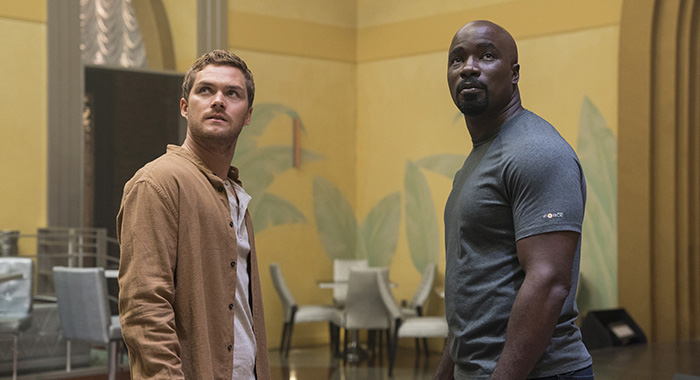 Marvel's Luke Cage SEASON Season 2 EPISODE 10 PHOTO CREDIT David Lee/Netflix PICTURED Finn Jones, Mike Colter