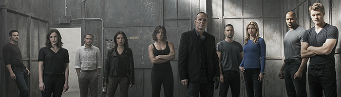 """MARVEL'S AGENTS OF S.H.I.E.L.D. - ABC's """"Marvel's Agents of S.H.I.E.L.D."""" stars Chloe Bennet as Agent Daisy Johnson, Clark Gregg as Director Phil Coulson, Nick Blood as Agent Lance Hunter, Adrianne Palicki as Agent Bobbi Morse, Henry Simmons as Agent Alphonso """"Mack"""" MacKenzie and Luke Mitchell as Lincoln Campbell. (ABC/Kurt Iswarienkio )"""