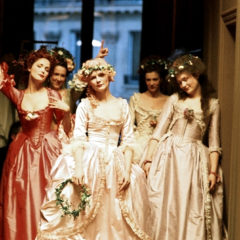 MARIE ANTOINETTE, Kirsten Dunst (center), 2006, ©Sony Pictures/courtesy Everett Collection