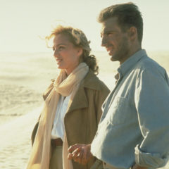 Kristin Scott Thomas as Katherine Clifton and Ralph Fiennes as Count Almaszy in The English Patient (Miramax Films)