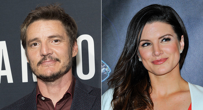 Pedro Pascal and Gina Carano (Lev Radin/Everett Collection; Lilly Lawrence/Getty Images)