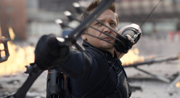 CAPTAIN AMERICA: CIVIL WAR, Jeremy Renner, as Hawkeye, 2016.
