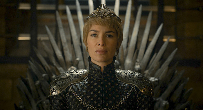Game of Thrones season 6, episode 10 - Lena Headey as Cersei Lannister. photo: courtesy of HBO