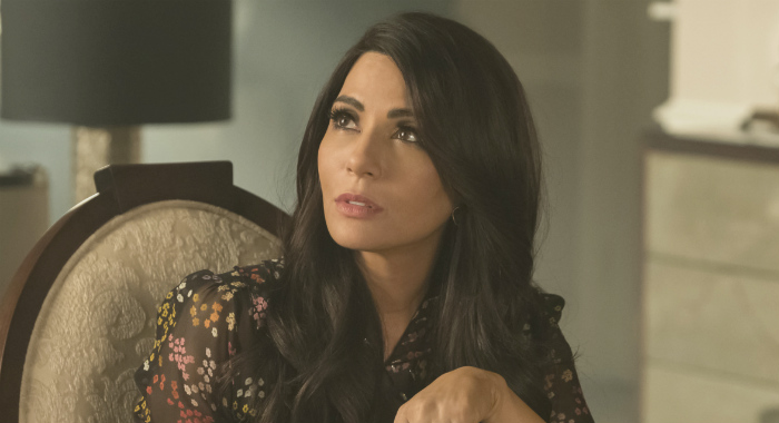 "Riverdale -- ""Chapter Thirty-Two: Prisoners"" -- Image Number: RVD219a_0160.jpg -- Pictured: Marisol Nichols as Hermione -- Photo: Katie Yu/The CW -- Ã'© 2018 The CW Network, LLC. All Rights Reserved. CREDIT: Katie Yu/The CW"