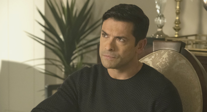 "Riverdale -- ""Chapter Thirty-Two: Prisoners"" -- Image Number: RVD219a_0220.jpg -- Pictured: Mark Consuelos as Hiram -- Photo: Katie Yu/The CW -- Ã'© 2018 The CW Network, LLC. All Rights Reserved. CREDIT: Katie Yu/The CW"
