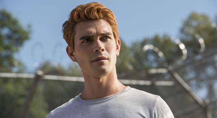 "Riverdale -- ""Chapter Thirty-Seven: Fortune and Men's Eyes"" -- Image Number: RVD302b_0468.jpg -- Pictured: KJ Apa as Archie -- Photo: Dean Buscher/The CW -- © 2018 The CW Network, LLC. All rights reserved."