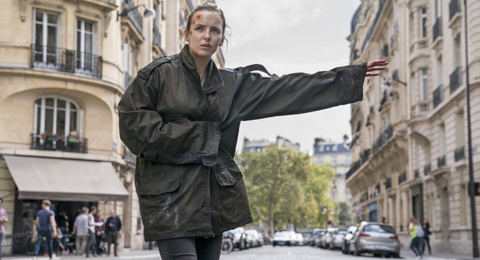 Jodie Comer as Villanelle - Killing Eve _ Season 2, Episode 1 - Photo Credit: Aimee Spinks/BBCAmerica