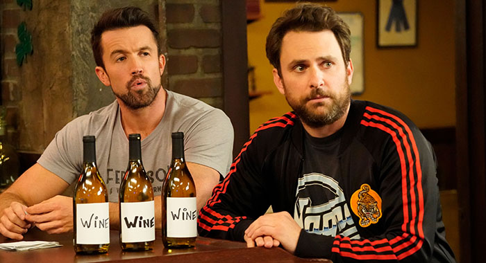 IT'S ALWAYS SUNNY IN PHILADELPHIA, from left: Rob McElhenney, Charlie Day, 'The Gang Makes Paddy's Great Again', (Season 13, ep. 1301, airs Sept. 5, 2018). photo: Patrick McElhenney/©FX/Courtesy Everett Collection