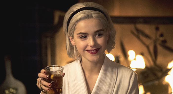 "Kiernan Shipka in ""Chilling Adventures of Sabrina: A Midwinter's Tale"" Credit: Dean Buscher/Netflix"