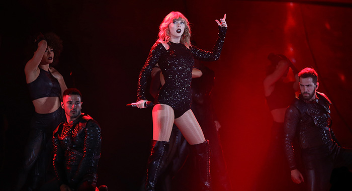 PERTH, AUSTRALIA - OCTOBER 19: Taylor Swift performs at Optus Stadium on October 19, 2018 in Perth, Australia. (Photo by Paul Kane/Getty Images)