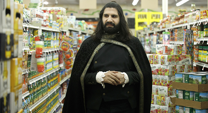"WHAT WE DO IN THE SHADOWS -- ""Pilot"" -- Season 1, Episode 1 - Pictured (l-r): Kayvan Novak as Nandor. CR: John P Johnson/FX"