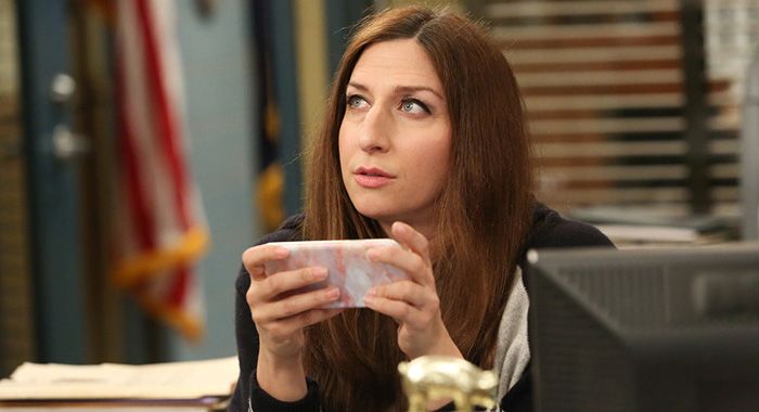 "BROOKLYN NINE-NINE -- ""Honeymoon"" Episode 601 -- Pictured: Chelsea Peretti as Gina Linetti -- (Photo by: Vivian Zink/NBC)"