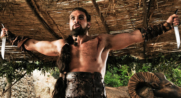 Jason Momoa as Khal Drogo in Game of Thrones season 1 (HBO)