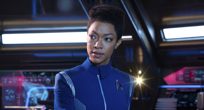 Sonequa Martin-Green as Burnham of the CBS All Access series STAR TREK: DISCOVERY. Photo Cr: James Dimmock/CBS