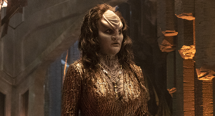 Pictured: Mary Chieffo as L'Rell of the CBS All Access series STAR TREK: DISCOVERY. Photo Cr: Michael Gibson/CBS