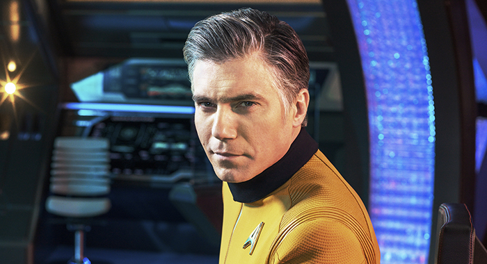 Anson Mount as Captain Pike in STAR TREK: DISCOVERY