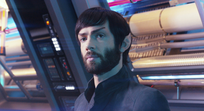 Ethan Peck as Spock of the CBS All Access series STAR TREK: DISCOVERY. Photo Cr: James Dimmock/CBS